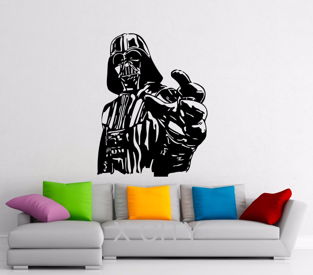 Giant darth vader sticker star wars poster children bedroom wall giant darth vader sticker star wars poster children bedroom wall decal art self adhesive pvc vinyl home interior decor murals in wall stickers from home amipublicfo Gallery