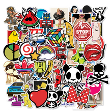 100 pcs/Lot Sticker Mixed Not Repeat Cool Graffiti Stickers For Luggage Car Laptop Skateboard Bicycle Funny Doodle DIY