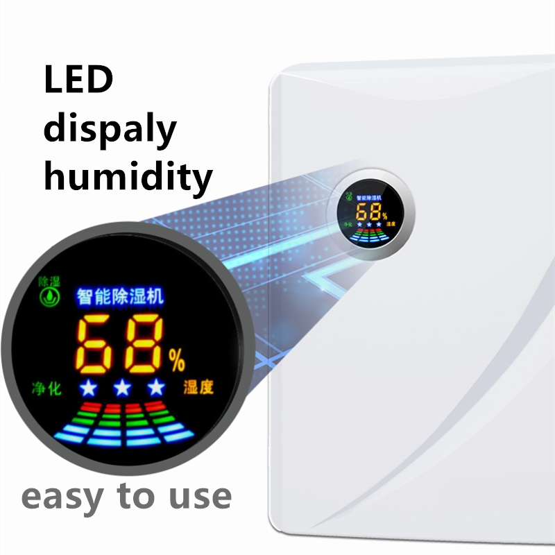 intelligent dehumidifiers LED display Humidity purify Air dryer Machine Moisture absorber Household Appliances dehumidifier electric intellignce dehumidifiers moisture absorber water intelligent deshumidifier 0018type