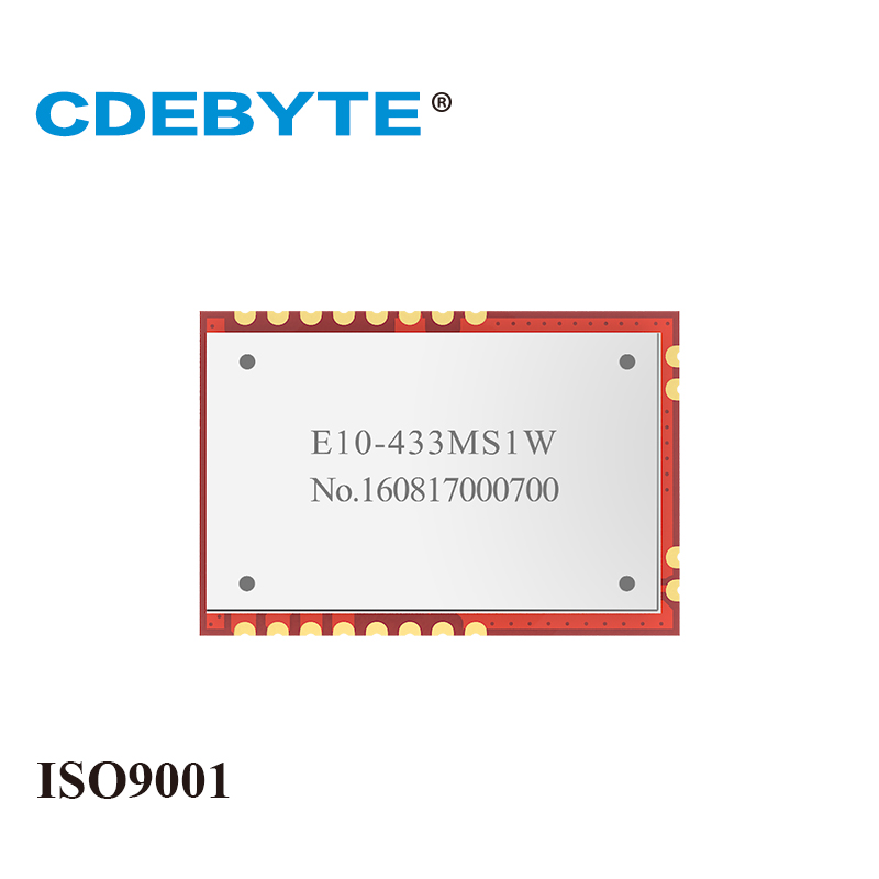 E10-433MS1W 30dBm Long Range SPI SI4463 433mhz 1W Stamp Hole IoT Uhf Wireless Transceiver TCXO 433 MHz Transmitter Receiver