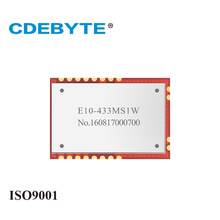 Free shipping CDEBYTE 2PCS/Lot E10-433MS1W SI4463 Long Range 6km 433MHz Remote Wireless Transceiver Communication Module