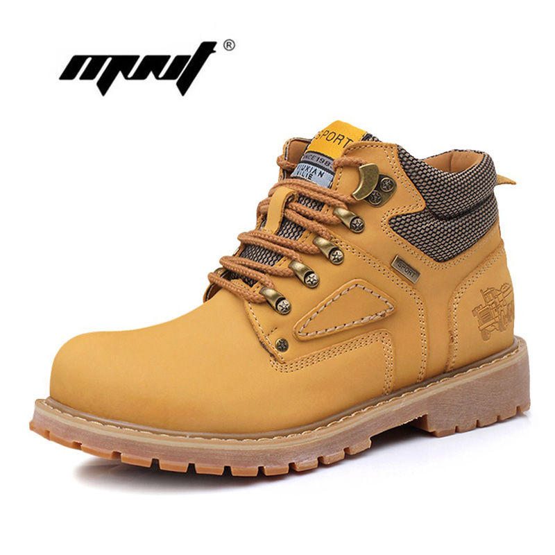 Breathable Men Winter Boots British Style Ankle Boots Hight Quality Shoes Men Classic Retro Leather Men