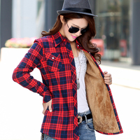 Spring And Autumn Plaid Shirt Women S Blouses New Winter Shirts Long Sleeved Casual Women S