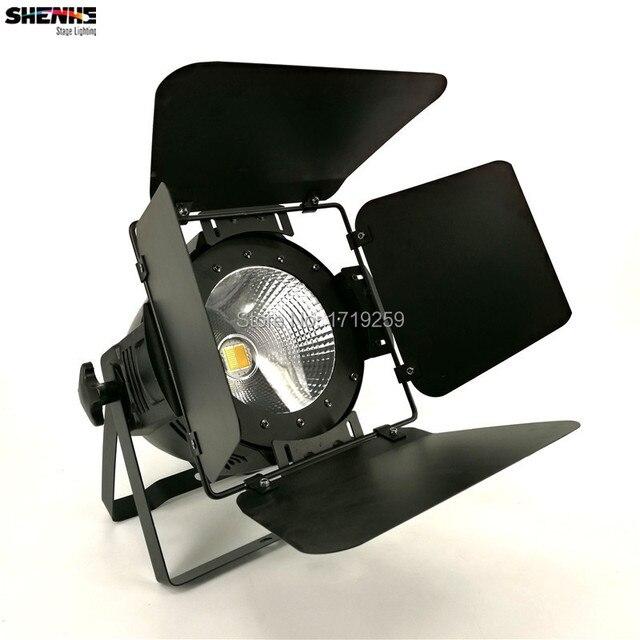 2 шт./лот LED Par COB 100 Вт С Шторками Высокой Мощности Алюминиевый Корпус Сценического Освещения с 100 Вт УДАРА, холодный белый и теплый белый