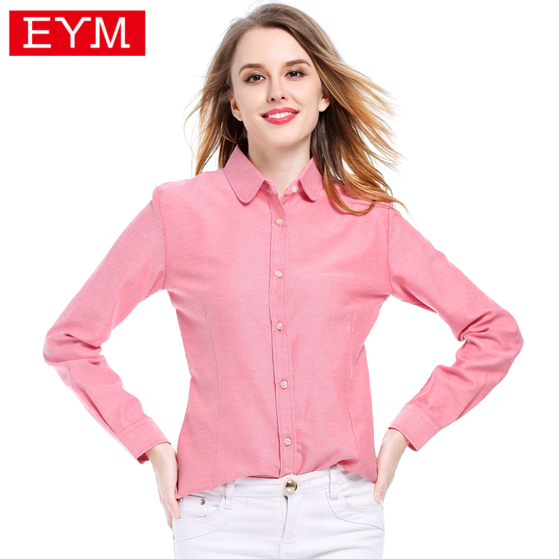 Brand Women Blouses 2018 New Cotton Oxford Women S Shirt Long Sleeve