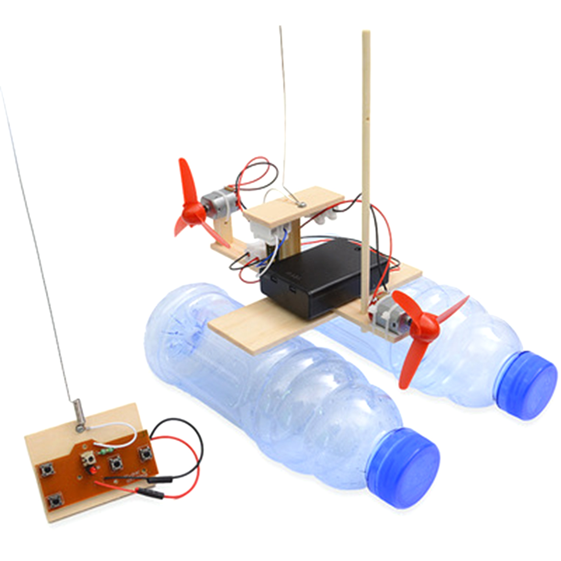 Surwish DIY RC Airboat Model Science Experiment Puzzle Assembly Toy For Students Boys Kids Diy Educational Science Kits