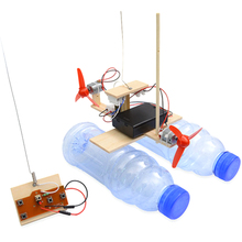 Surwish DIY RC Airboat modelo ciencia experimento rompecabezas juguete de montaje para estudiantes niños Diy Ciencia Educativa Kits