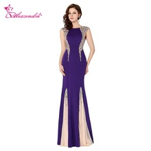 Alexzendra Purple Beaded Crystals Prom Dresses Party Dress
