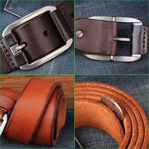 Image 5 - DESTINYเข็มขัดชายหนังแท้Luxury Designer Fivela Cowboy Ceinture Hommeคุณภาพสูงกางเกงยีนส์เข็มขัดโลหะหัวเข็มขัด