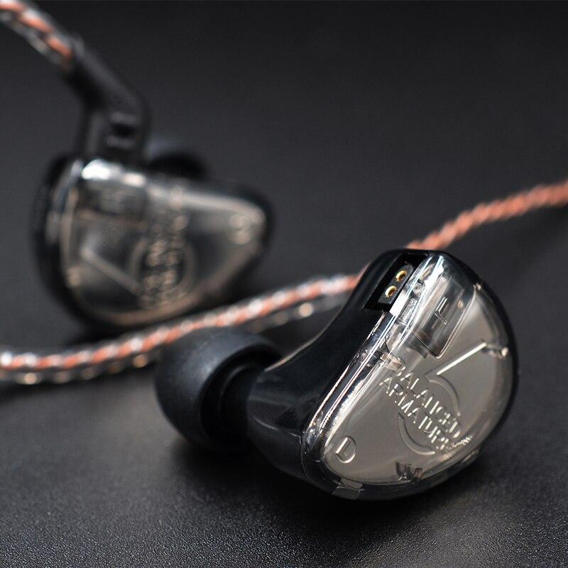KZ AS06 3BA conducir en el auricular del oído 3 armadura equilibrada desmontable separar 2PIN Cable HIFI Monitor de deportes del auricular de auriculares - 6