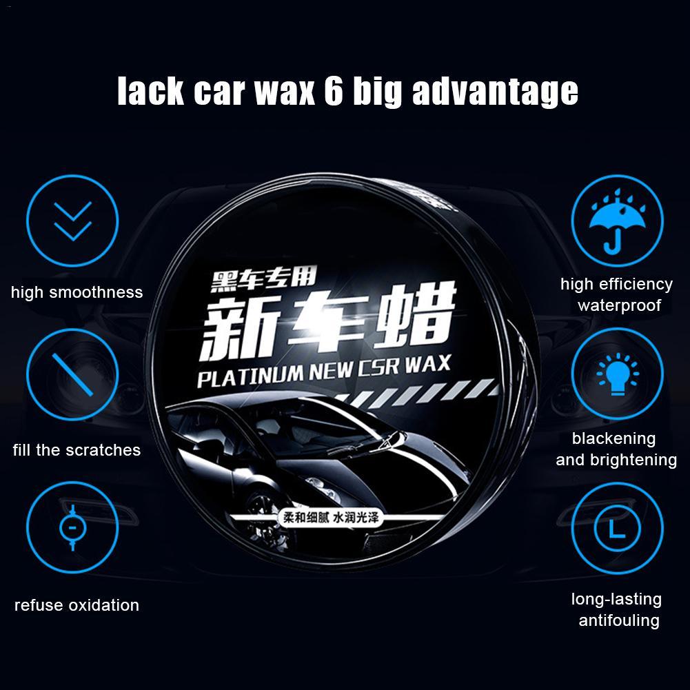 Car Wax Maintenance New Auto Decontamination Glazing Protective Wax Paint Care Nano Coating Micro Scratch Repair Tool Black
