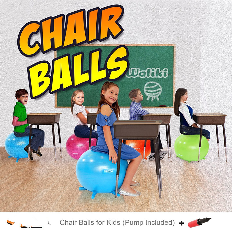 Children's Chair Ball with Feet, Alternative Classroom Seating Inflatable Balance Ball Chair With Stability Legs forSchool home 6 5ft diameter inflatable beach ball helium balloon for advertisement