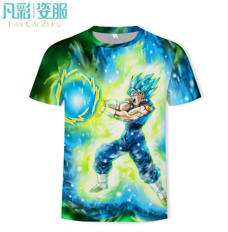 New Dragon Ball Z T Shirts Men Summer 3D Print Super Saiyan Goku Black Zamasu Vegeta Dragonball Casual MaleTee Shirt Tops Tee(China)