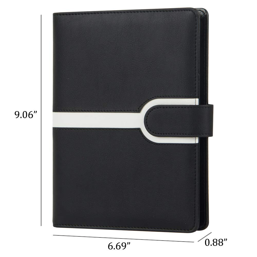 Image 5 - Harphia Binder planner Creative A5 Refillable Spiral Loose Leaf Notebook Travel Journal color contrast filofax agenda-in Notebooks from Office & School Supplies
