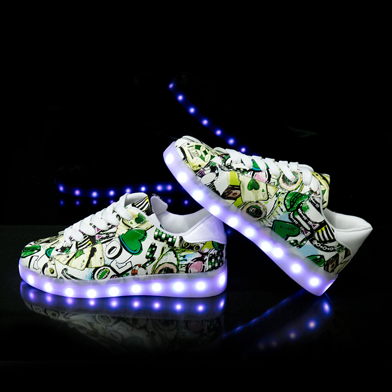 Image 3 - Size 27 42 LED Shoes Luminous Sneakers Light Shoes Glowing Sneakers with Luminous Sole Basket for Boys&Girls Kids Feminino TenisSneakers   -
