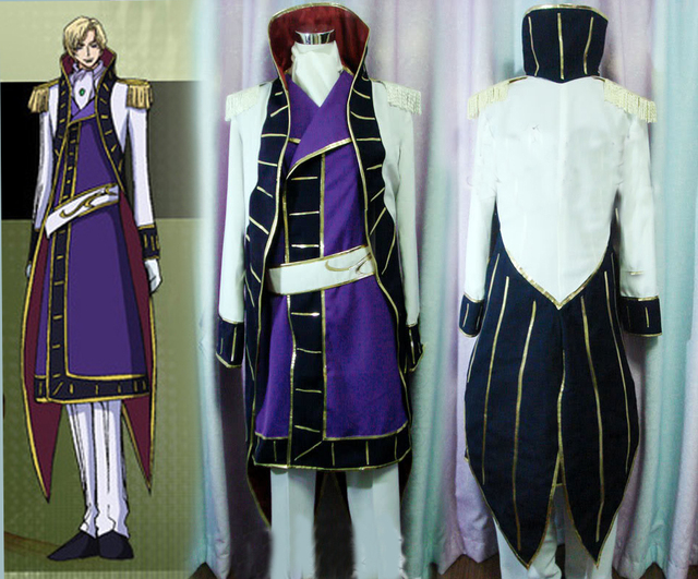 New Coming Custom Made Code Geass Schneizel El Britannia Cosplay Costume