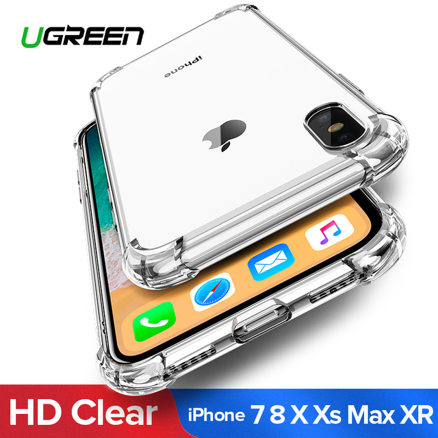 Ugreen Case For iPhone 7 8 Plus Case Shock-proof Back Cover For iPhone X Xs Max Phone Case HD Clear Protective For iPhone 7 Case