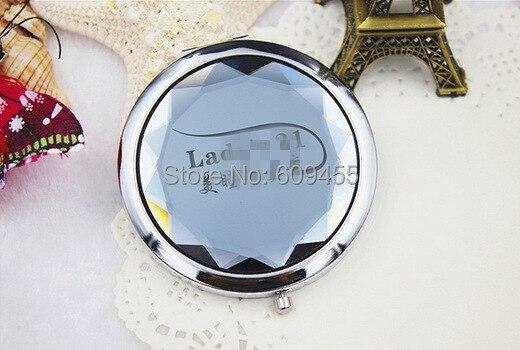 Бесплатная доставка + Best качество Нержавеющаясталь обшивки кристалл Красота зеркало мило зеркальце + 100 шт./лот