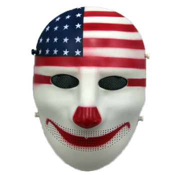 цена на Clown Payday Cosplay Halloween Masks Full Face Tactical Mask Mesh Army Military Wargame Airsoft Paintball Mask