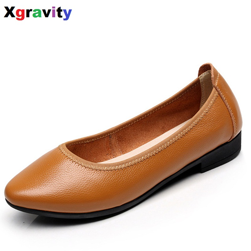 Hot Sales Autumn Soft Woman's Flat Shoes Pointed Toe Fashion Flats Woman Elegant Comfortable Women's Genuine Leather Flats C019 new listing pointed toe women flats high quality soft leather ladies fashion fashionable comfortable bowknot flat shoes woman