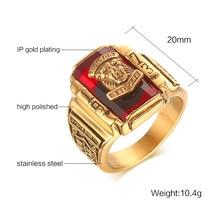 Vnox Vintage Male Ring for Men Jewelry Walton Tiger High School Stainless Steel