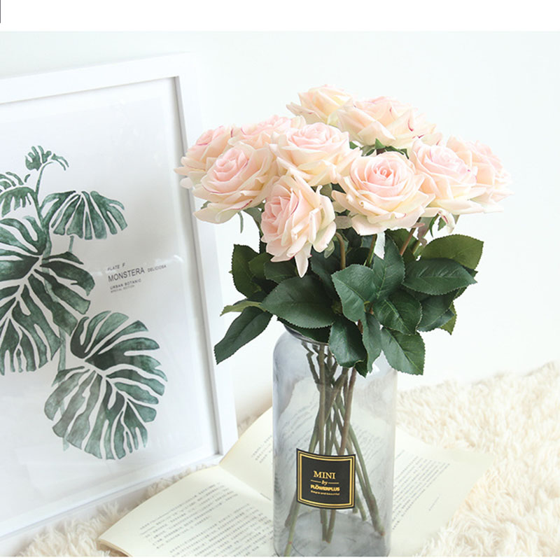 Real touch roses artificial flower wedding home decoration (13)