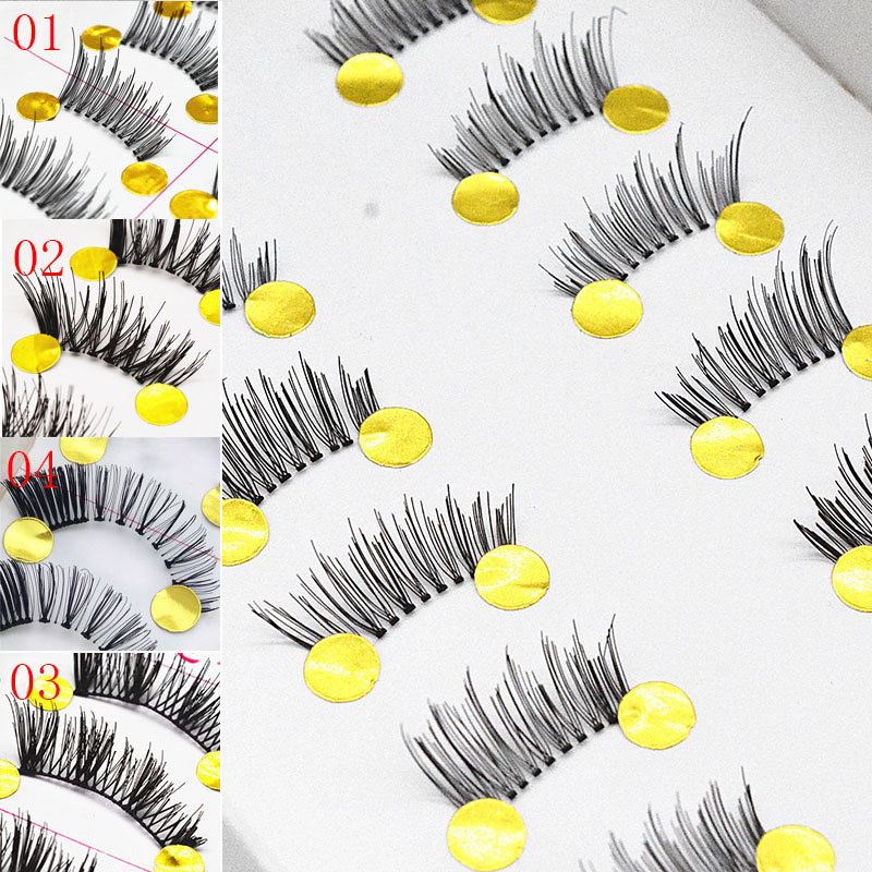 ICYCHEER 10 Pairs Beauty Makeup Mini Half Corner Black False Eyelashes Natural Fake Eye Lashes Makeup Tools Eyelash Extension