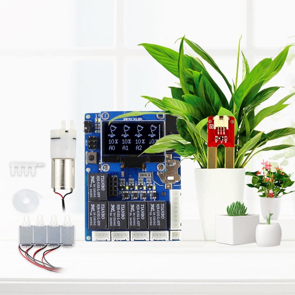 Elecrow nouvelle Version automatique Kit d'arrosage de plantes intelligentes pour Arduino programme de Kit de bricolage électronique Module de conseil de plantes d'eau en plein air