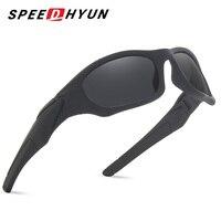 SPEEDHYUN Eyewear Men Polished Lens Sunglasses Top Quality 2017 New Safety Sport UV400 Polarized Sun Glasses