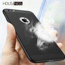 Ultra Thin Slim Phone Case For iPhone 7 8 Plus 6 6s Heat Dissipation Luxury X XS MAX Hollow Business Shockproof Cover