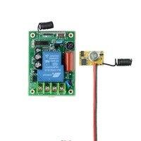 AC 220V 30A Relay Wireless Remote Switch Micro Transmitter Power ON Transmitting Signal DC3V 12V RF