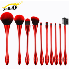 Get more info on the YALIAO 10pcs Makeup Brushes Set Cosmetic Foundation Powder Blush Eye Shadow Makeup Tools 4 Colors Available For Woman Beauty