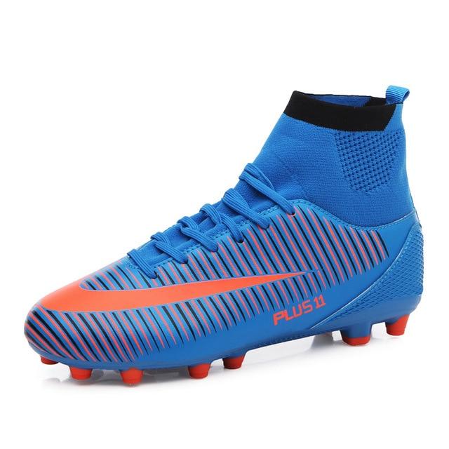 d16fdc1bfe14c Adulto Futsal fútbol tacos zapatos de fútbol de césped formación zapatillas  de deporte de alta tobillo