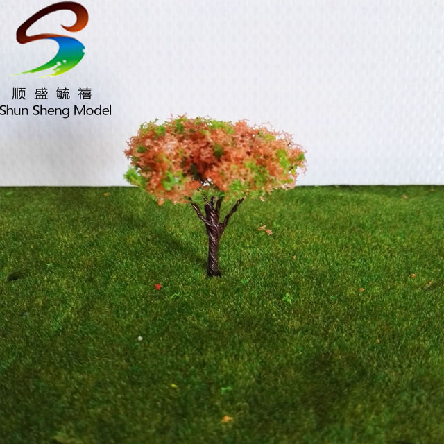 50PCS 3.5CM architectural model making building material outdoor,Architectural model tree,Scale Train Layout Set Model Trees