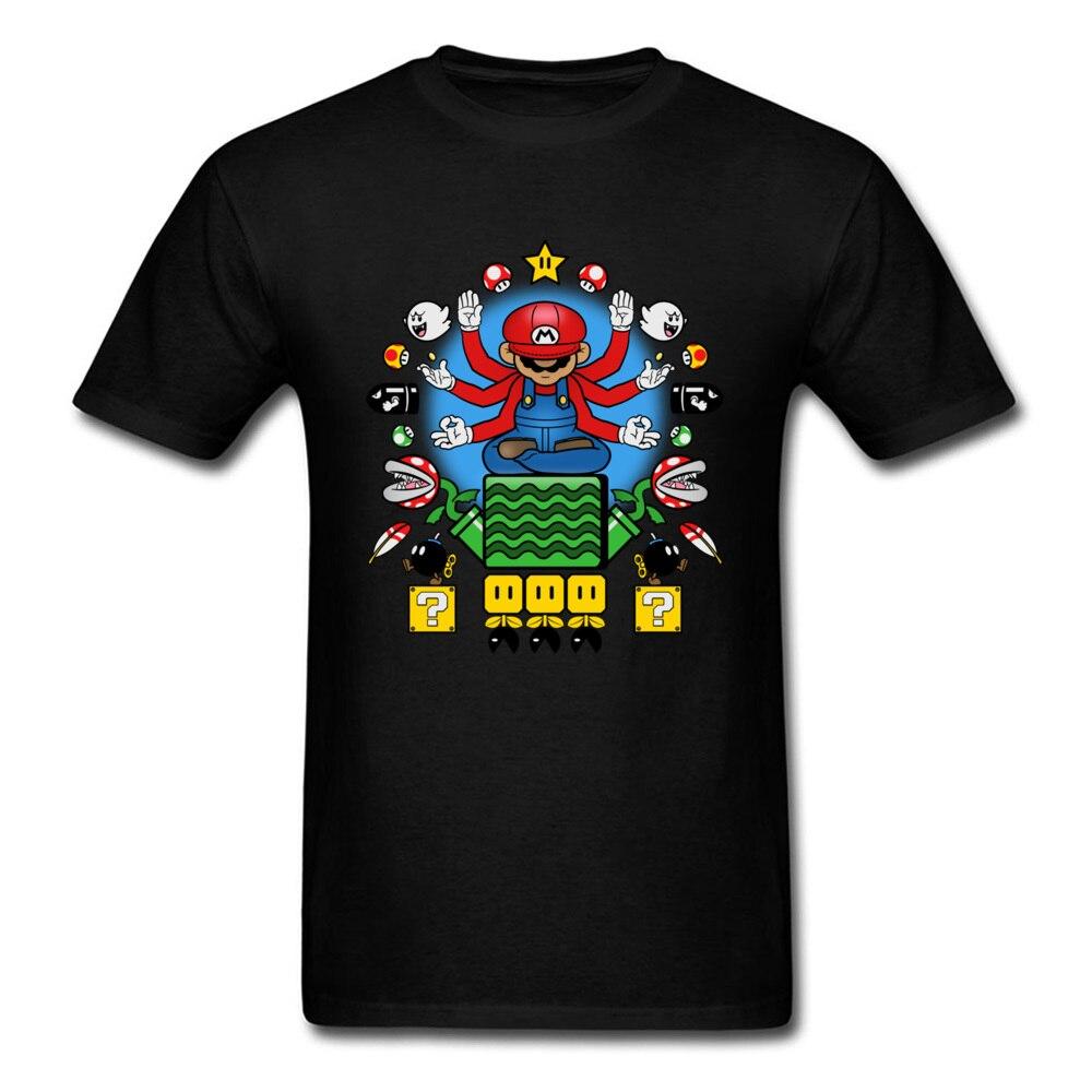 Гриб Nirvana футболка Марио футболка Для мужчин игры Топы 80 s Винтаж Костюмы Приключения геймер футболки смешной черный Tee