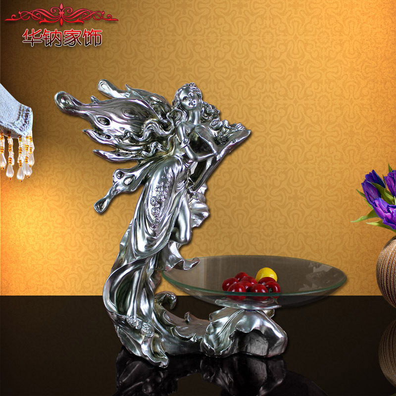 2016 Real Factory Direct Home Furnishing Resin Handicraft Flower Fairy Fruit Compote Beauty Of Decoration Accessories Art