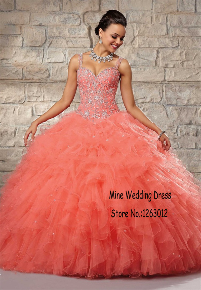 Popular Corset Coral Quinceanera Dresses-Buy Cheap Corset Coral ...