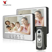 Wired Home Video Door Phone Intercom Doorbell 7inch Infrared Night Vision with Ringtones Waterproof for Door Entry System