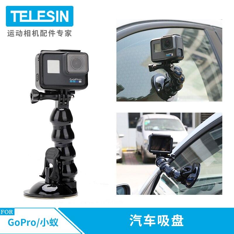TELESIN New Accessories Car Suction Cup Adapter Window Glass Mount For Gopro Hero8 7 6 5 Black Hero 4 3  5s Sj Xiaomiyi For DJI