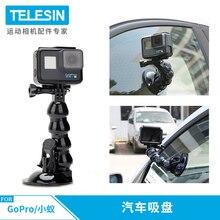 TELESIN nouveaux accessoires voiture ventouse adaptateur fenêtre verre montage pour Gopro Hero9 8 7 6 5 noir Hero 4 3 5s sj Xiaomiyi pour DJI