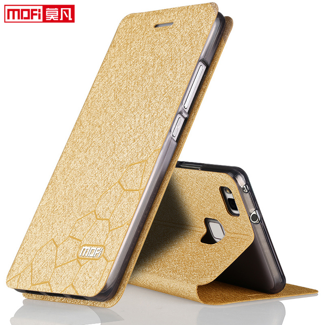 on sale f635b 7b43f Huawei p9 lite case flip huawei p9 lite case leather original mofi inner  aluminium metal case fundas thin glitter VNS TL00-in Phone Bags & Cases  from ...