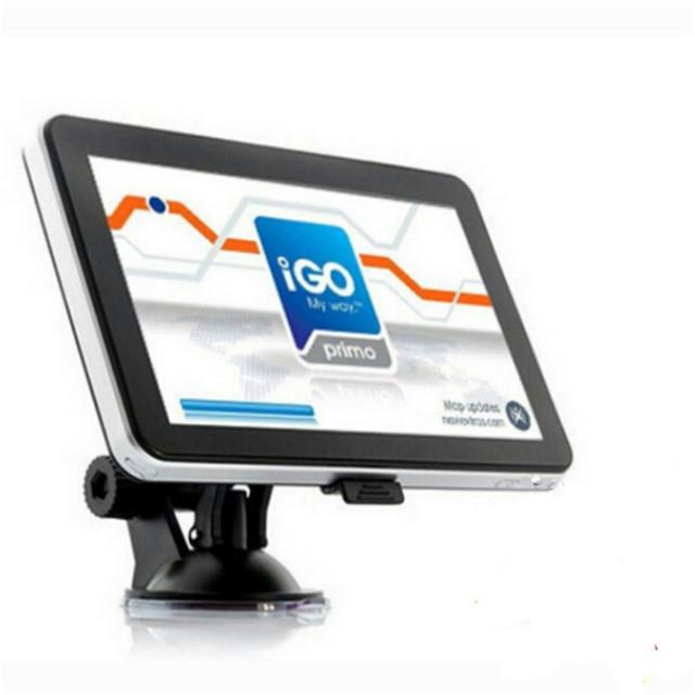 Alta calidad 7 pulgadas 128 M GPS de navegación para automóviles 4 GB capacidad de navegación GPS del coche