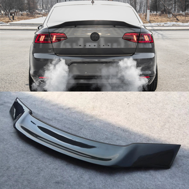 цена на For Volkswagen VW Magotan Passat B7 B8 2012-2018 Carbon Fiber Tail Wing Rear Trunk Spoiler Car R Styling