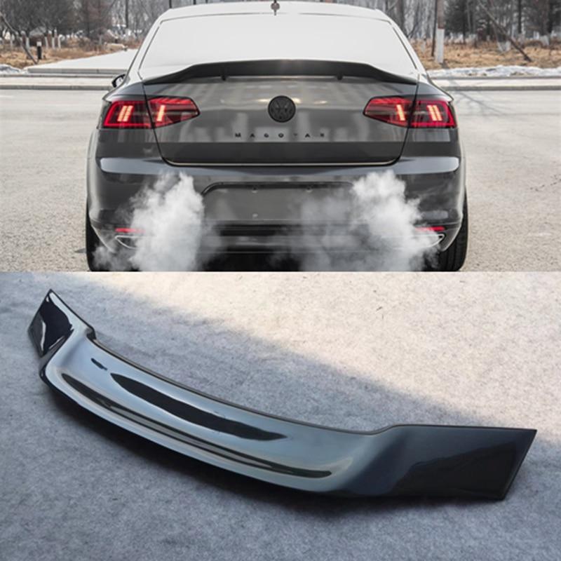 For Volkswagen VW Magotan Passat B7 B8 2012 2018 Carbon Fiber Tail Wing Rear Trunk Spoiler Car R Styling
