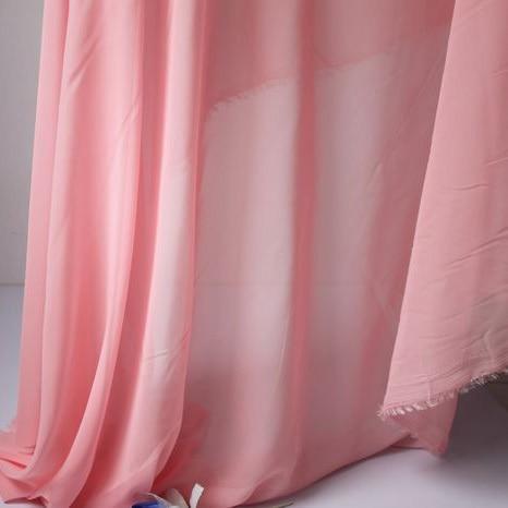 US $18 41 7% OFF Pink Chiffon Fabric Sheer Bridal Wedding Dress Lining  Fabric Skirt 60