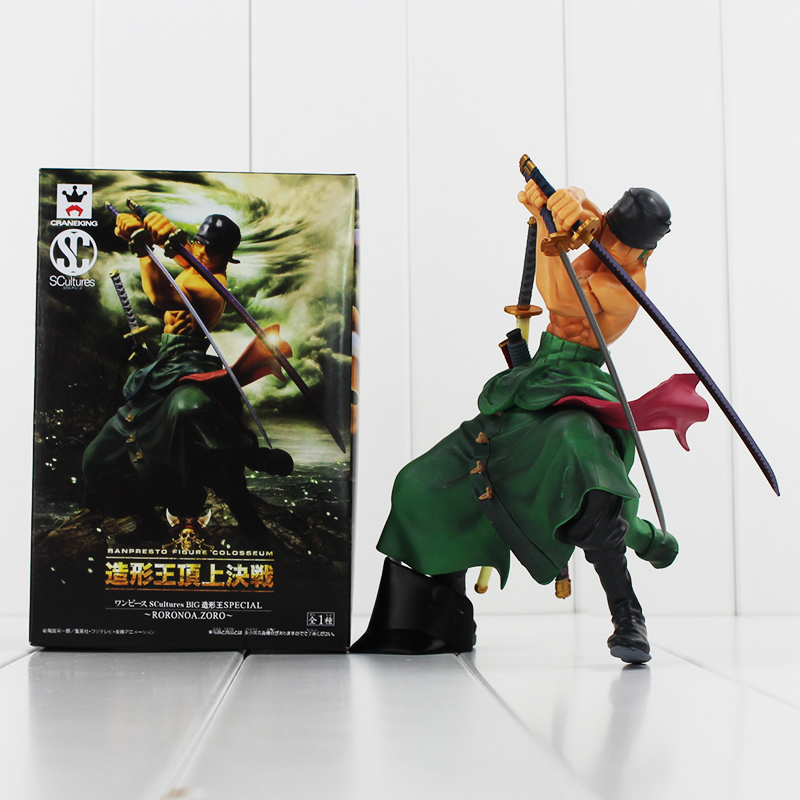 New Arrival One Piece Japan Anime PVC Toy Roronoa Zoro Action Figure Model Doll with Retail Box 7 17cm Free Shipping brand new portrait of pirates one piece roronoa zoro 23cm pvc cool cartoon action figure model toy for gift kids free shipping