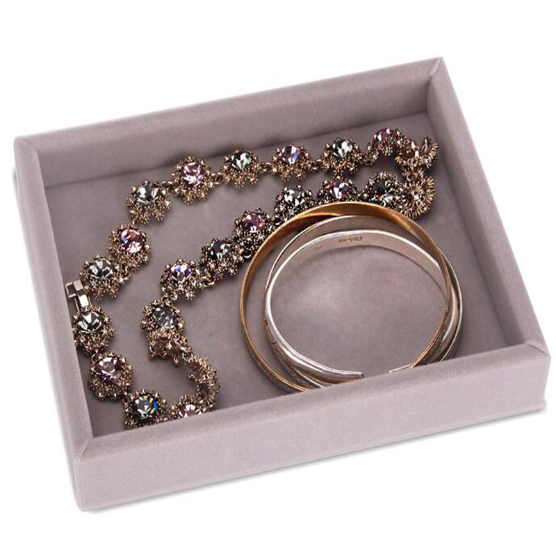 L15 8cm W12cm H2 5cm New Drawer DIY Jewelry Storage Tray Ring Bracelet Gift Box Jewelry Organizer Earring Holder Most Room Space in Jewelry Packaging Display from Jewelry Accessories