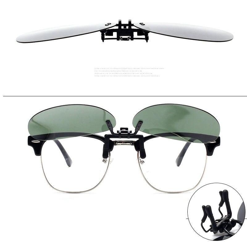 Поляризованные клип Солнцезащитные очки для женщин Для мужчин Для женщин очки Поляризованные клип пилот флип вождения Ночное видение объе...