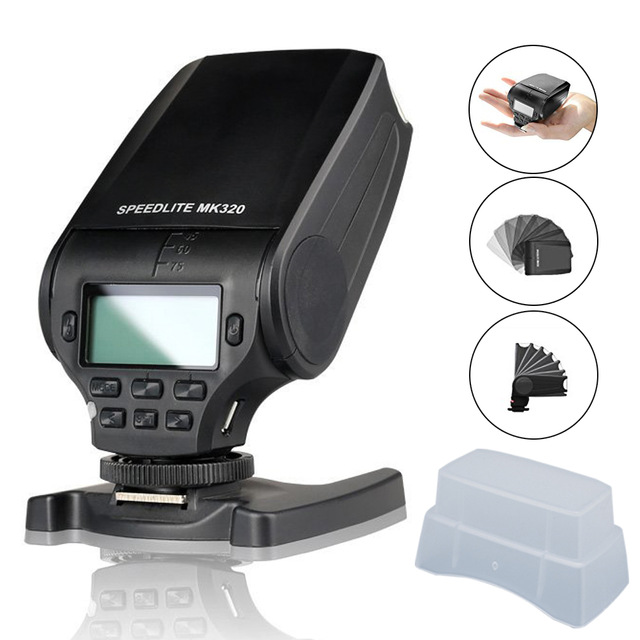 Meike MK320 MK-320 GN32 TTL Flash Speedlite for FujiFilm Hot Shoe Camera X100F XT2 X-pro1 XT-10 XT-20 X-pro2 mini flash light meike mk320 mk 320 mk320 c gn32 ettl speedlite for can 60d 7d 6d 70d dslr