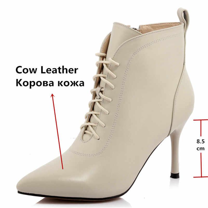 FEDONAS Solid แฟชั่นชี้ Toe รองเท้าส้นสูงผู้หญิงรองเท้าข้อเท้าคุณภาพสูงของแท้หนังเซ็กซี่ Elegant Party Prom รองเท้า